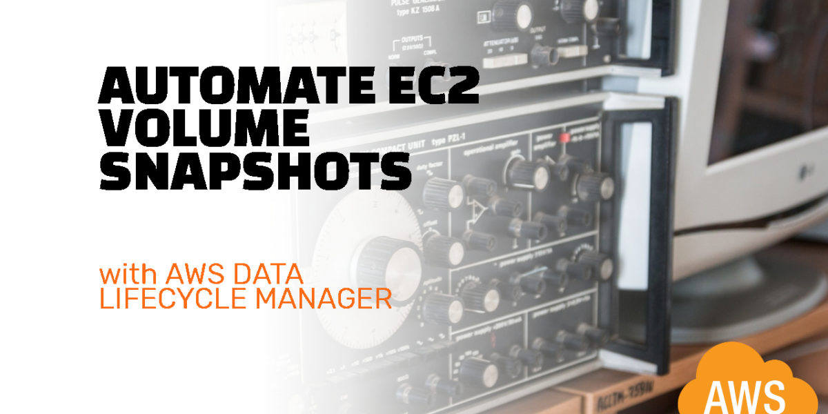 Automate EC2 volume snapshots with AWS Data Lifecycle Manager