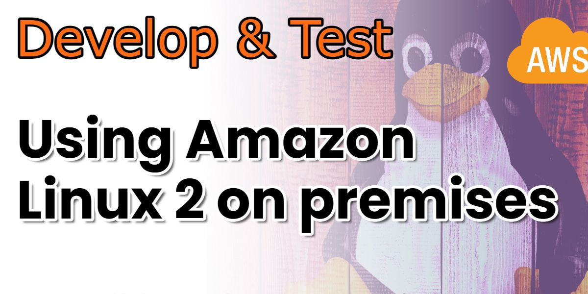 How to run Amazon Linux 2 on premises (locally) as a VM