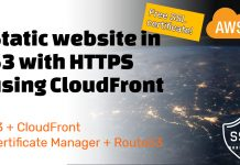 Create a static website in S3 and use CloudFront to serve it through HTTPS (using free SSL)